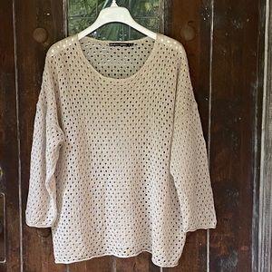 Gudrun Sjoden   Organic Linen open weave Sweater